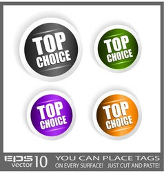 Top choice stickers vector image vector image