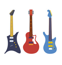 vintage bass electric rock guitars string vector image vector image