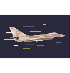 War military plane vector image