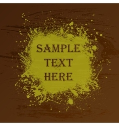 Wood texture splash and text vector image