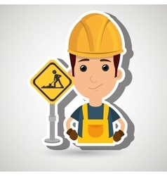 Man worker construction vector