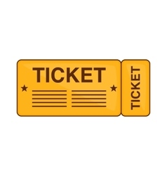 Train ticket icon cartoon style vector