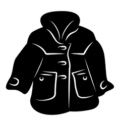 Women coat icon simple style vector