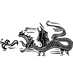 Long Dragon vector image