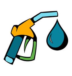 Gas station gun icon icon cartoon vector