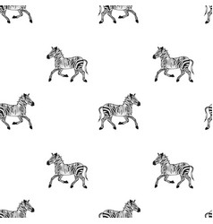 Drawing african wildlife seamless pattern vector