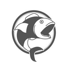 monochrome silhouette of circular shape emblem vector image