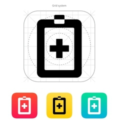 Patient card icon vector