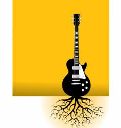 guitar strings roots vector image