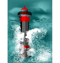 Lighthouse storm vector