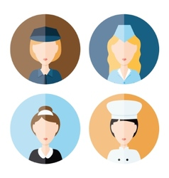 Women profession icons vector