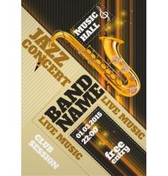 Jazz Concert Poster vector image