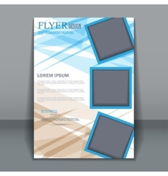 Business brochure flyer for design vector