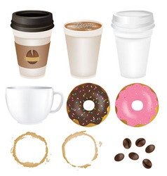 set coffee vector image