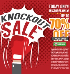 Knockout sale promotion vector