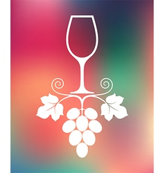 Wine abstract glass on smooth background vector