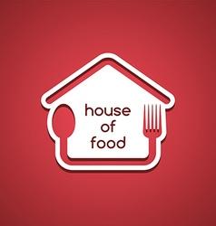 homemade house food logo template vector image