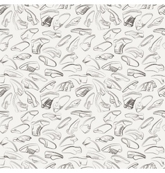 Seamless pattern of variety men shoes vector