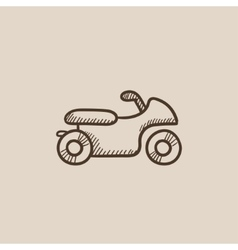 Motorcycle sketch icon vector