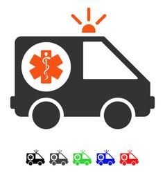 Ambulance car flat icon vector
