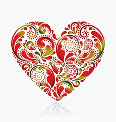 Beautiful heart on a white background vector