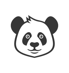 Cartoon Style Panda Icon on White Background vector image vector image