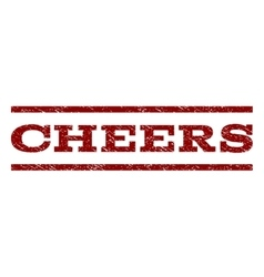 Cheers Watermark Stamp vector image