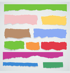 Color torn paper set vector