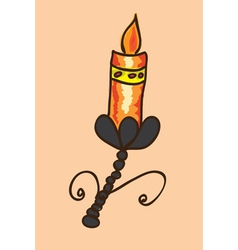 Colorful candle vector image vector image