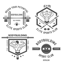 Emblem bodybuilding vector image vector image