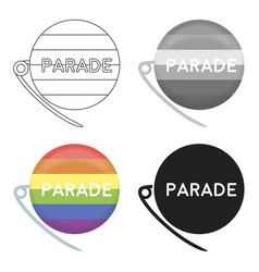 Gay parade icon cartoon single gay icon from the vector