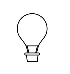 hot air balloon icon vector image