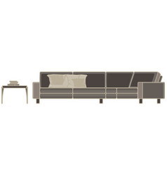 Modern sofa flat icon isolated furniture luxury vector