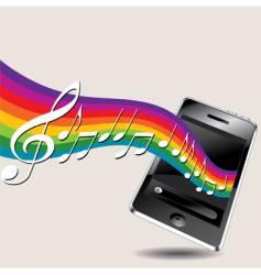 Music phone vector