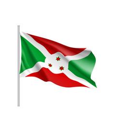 National flag republic of burundi vector