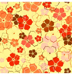 orange flower background vector image vector image