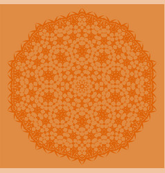 Orange oriental geometric ornament vector