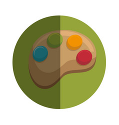 paint pallette isolated icon vector image