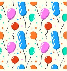 party baloon seamless pattern cartoon balloons vector image vector image