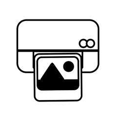 Printer work office picture equipment line vector