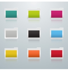 Set of Colored Folders vector image
