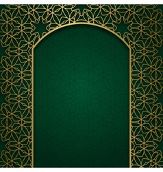 Traditional ornamental background with arched vector