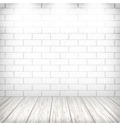 White brick wall vector image