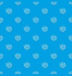Wow explosion effect pattern seamless blue vector