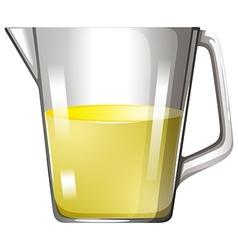 Yellow liquid in glass beaker vector