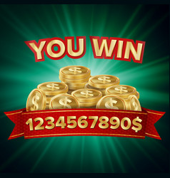 You win jackpot background jackpot sign vector