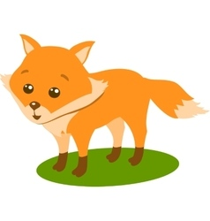 Fox ton the white background vector