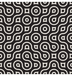 Seamless black and white irregular wavy vector