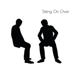 Man in sitting pose on chair pose vector