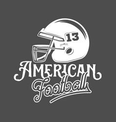 American football logo labels vector